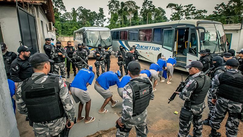 Transferência de detentos para o novo Complexo Penitenciário de Vitória do Xingu