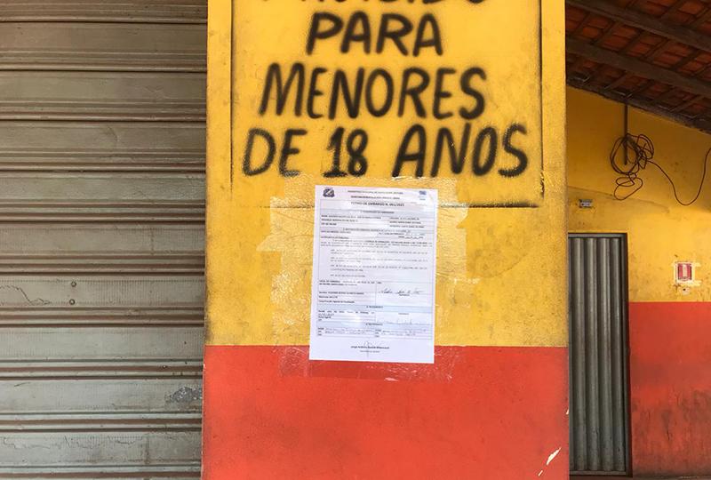 Bar da Mangueirinha foi interditado pela Semma 3 dias depois da festa.