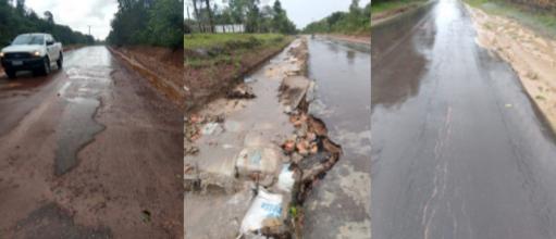 Em Curuçá só houve pavimentação em 1 km, dos 6km que foram contratados e pagos à Rodoplan