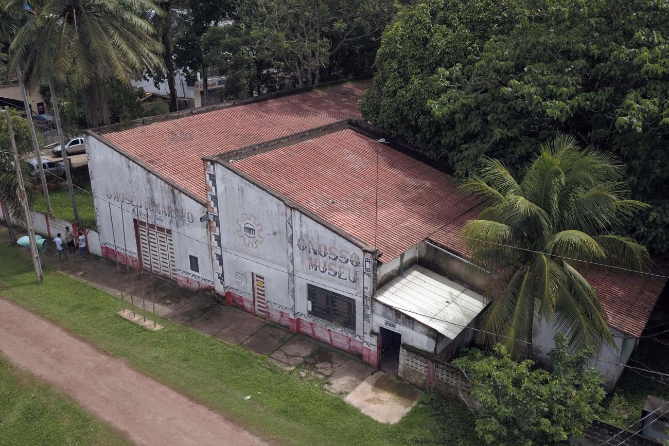 Vista aérea do Museu do Marajó: local está fechado ao público